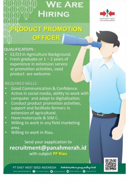 image LOWONGAN PRODUCT PROMOTION OFFICER