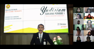 Prosesi Yudisium Fakultas Pertanian Periode I TA 2020/2021