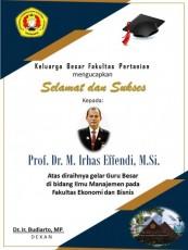 Selamat dan sukses, Rektor UPN VYK  Prof. Dr. M. Irhas Effendi, M.Si meraih gelar Guru Besar