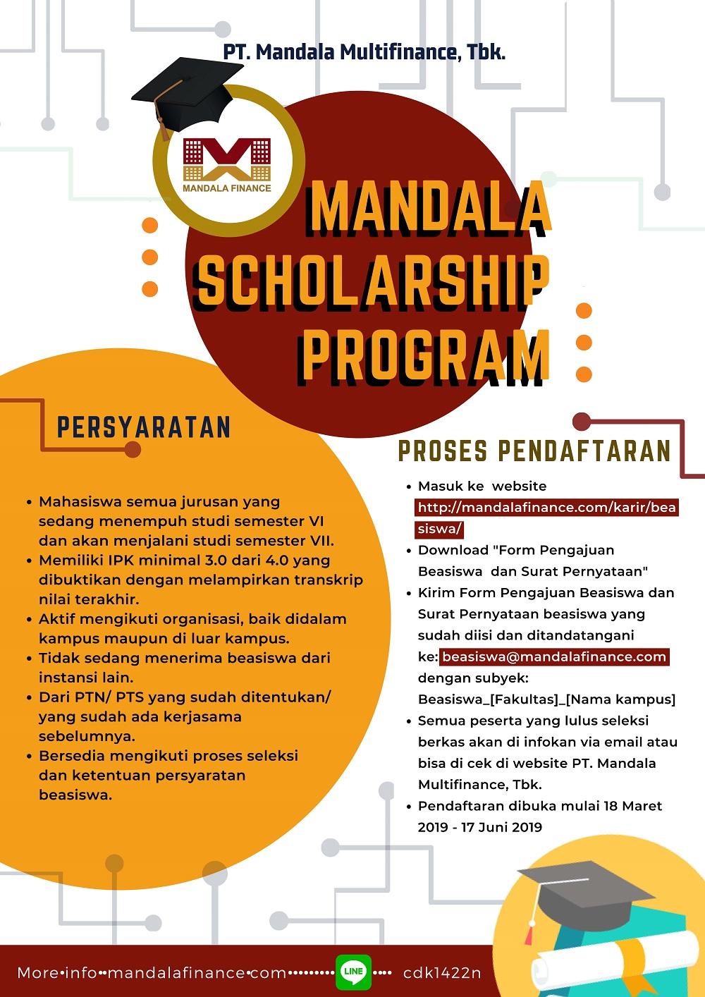 image Beasiswa PT. Mandala Multi Finance Tbk
